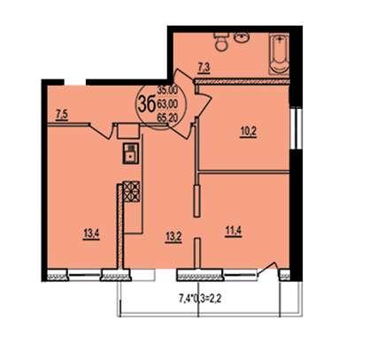 Продажа трехкомнатной квартиры