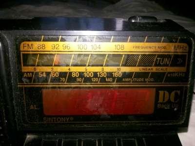 Радиобудильник,часы