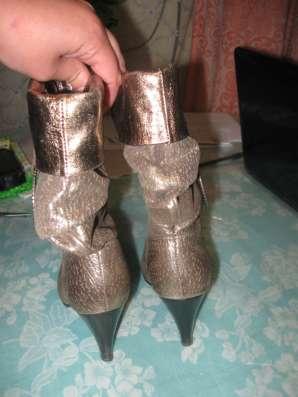 Сапоги демисезонные женские на каблуке