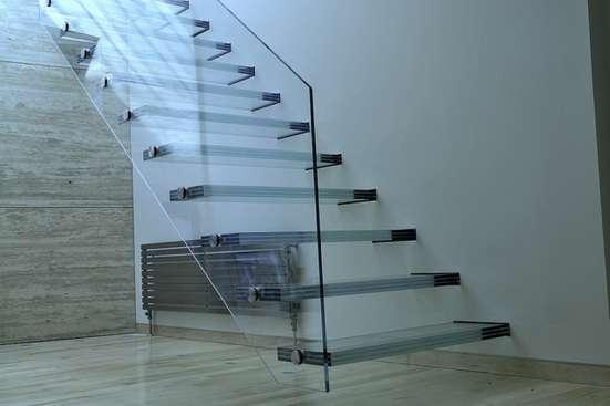 Стеклянные перила для лестниц, лестницы