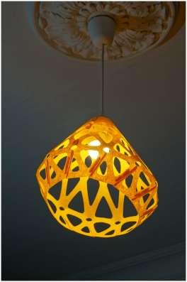 Светильник ZAHA LIGHT подвесной, желтый в Санкт-Петербурге Фото 3