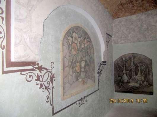 Декоративная штукатурка, декоративная покраска стен в Рязани