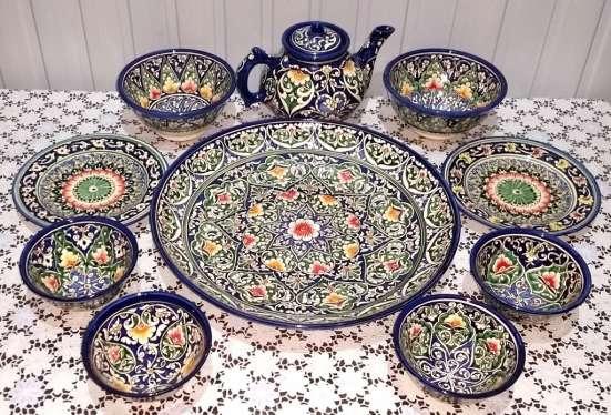 Узбекский национальный набор посуды-0389