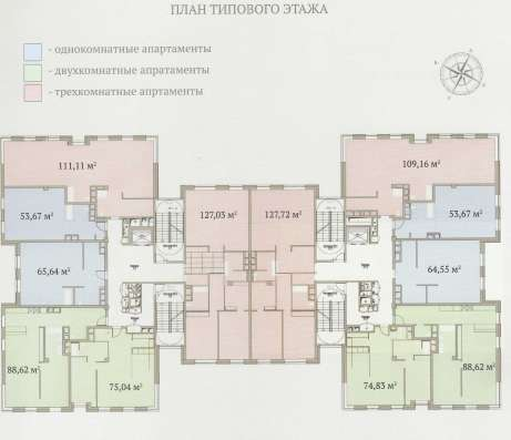 Апартаменты 133.7 м2 в элитном комплексе «Гороховский 12»