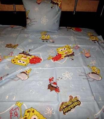 """постель """"Губка Боб""""-кроватка."""