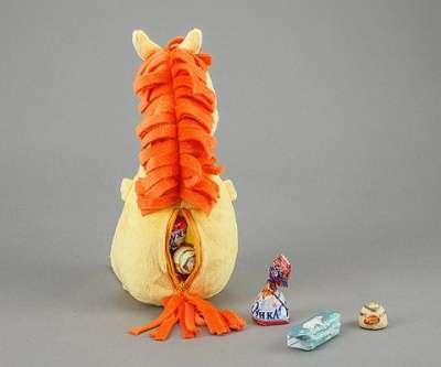 Плюшевая игрушка Лошадка (с карманом)