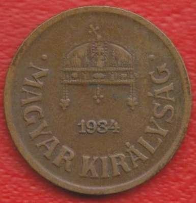 Венгрия 2 филлера 1934 г