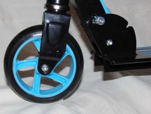 Самокат Navigator синий 145 см Fortuna, 2-х колесный, новый