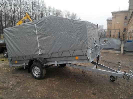 Рессорный автомобильный прицеп Трейлер 3,5х1,4м для перевозки снегохода, квадроцикла