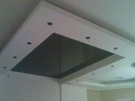 Монтаж гипрочных потолочных коробов
