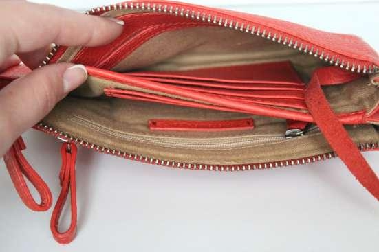 Новая коралловая кожаная сумка-клатч CristelleCo