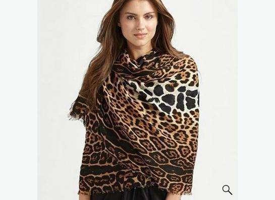 Шарф-палантин с леопардовым принтом