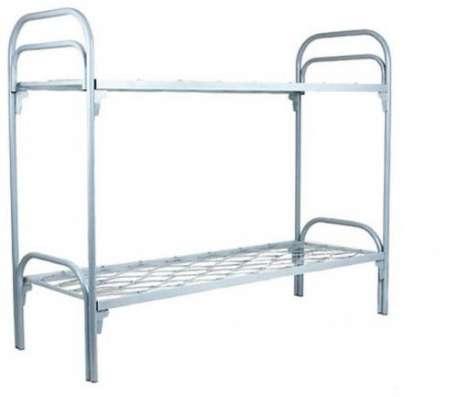 Двухъярусные железные кровати, для казарм, металлические кровати с ДСП спинками, кровати для бытовок, кровати по низкой цене. в Сочи Фото 4