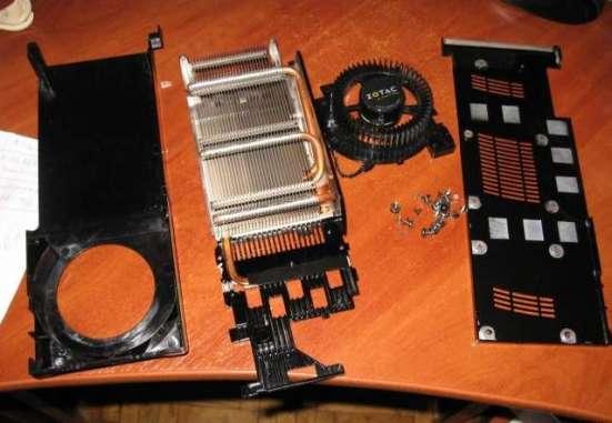 Охлаждение от видео карты Zotac GTX260