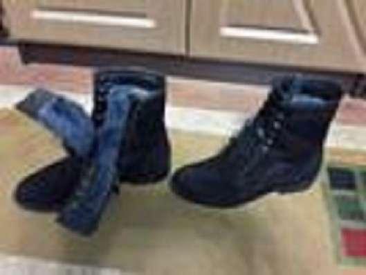 Женские ботинки, зимние, натуральные замша и мех