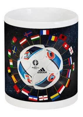 Cувенирная кружка на тему ЕВРО-2016 во Франции