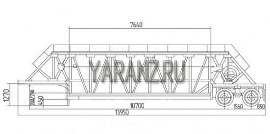 5. Трал панелевоз 25 тонный , 7,6 метров 2-х осный