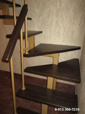 Металлическая интерьерная лестница в Барнауле Фото 2
