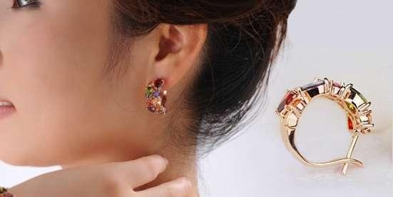 Серьги (покрытие - розовое золото) в Перми Фото 3
