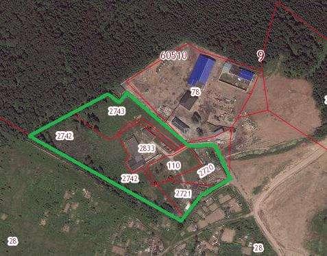 Продается земельный участок 460 соток в д. Черная Грязь