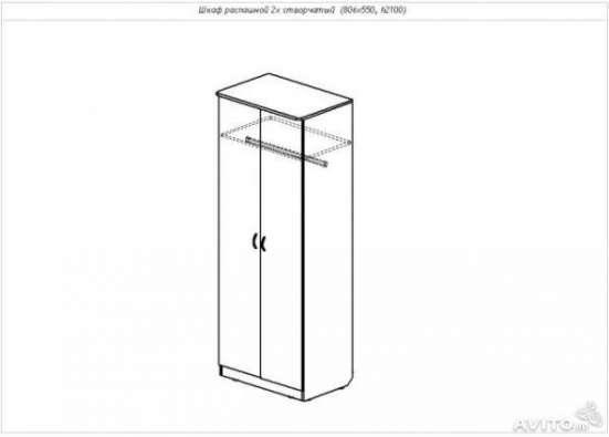 2-х створчатый новый шкаф