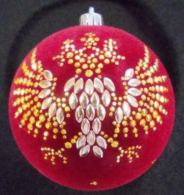 Флокированный елочный шар с логотипом