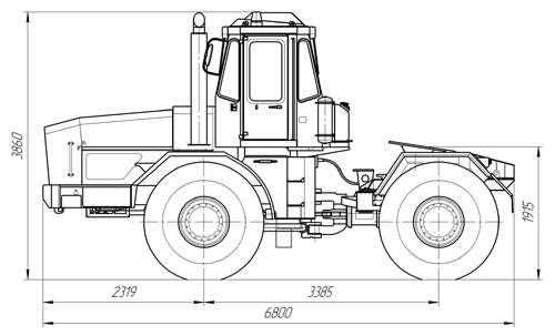 Трактор-тяговый К-701Т с седельно-сцепным устройством (ССУ) в Красноярске Фото 3
