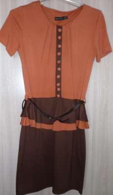 Платье трикотажное с баской, р-р 42 (44)