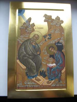 Икона храмовая. Евангелист Иоан и Прохор. На золоте в Москве Фото 2