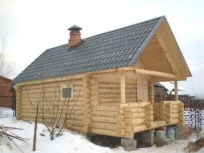 Сруб дома 6 на 8 с рубленным фронтоном. в Смоленске Фото 2