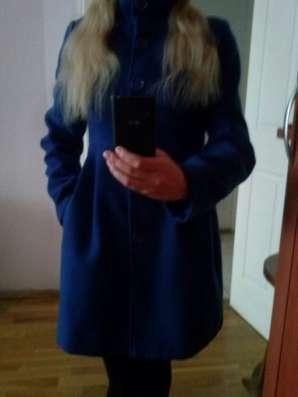 Пальто цвета аквамарин 42-44р
