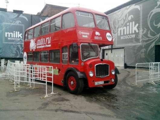 RetroBus – реклама на английском 2-этажном ретро автобусе в Москве Фото 4