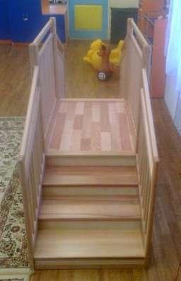 Мостик игровой деревянный для детских садиков и домов ребенка