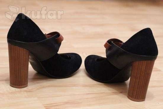 Туфли чёрные замша