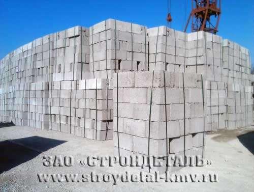 Блок стеновой бетонный, усиленный