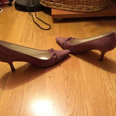 Замшевые удобные туфли
