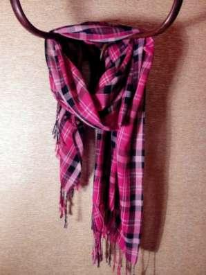 шарф в клетку розовый в Санкт-Петербурге Фото 2