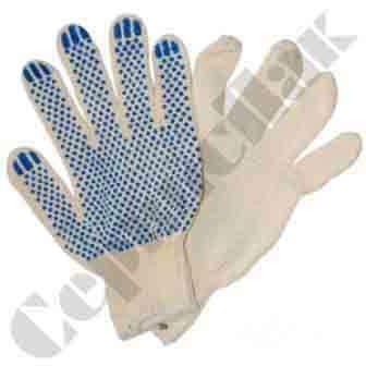 Рабочие перчатки х/б с ПВХ Worker